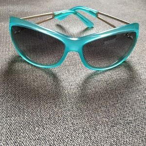 MARC JACOBS SUNGLASSES TURQUOISE GOLD